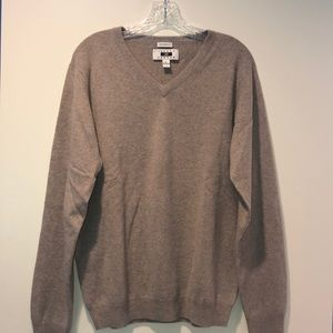 100% cashmere men's v neck sweater